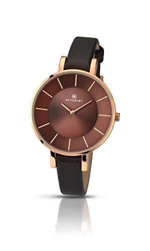 腕時計 アキュリスト レディース イギリス ロンドン 8088 【送料無料】Accurist Contemporary Rose Gold & Brown Leather Ladies Watch 8088腕時計 アキュリスト レディース イギリス ロンドン 8088