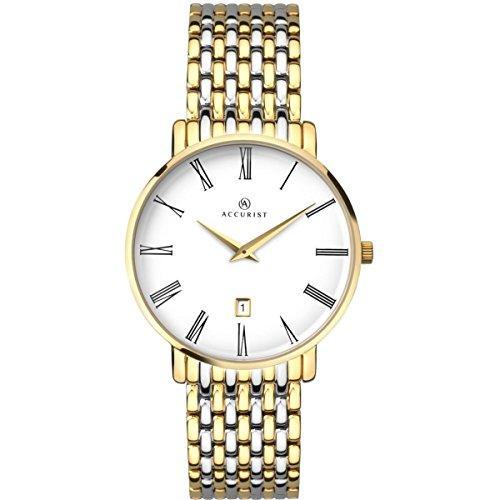 アキュリスト 腕時計 メンズ イギリス ロンドン 7159 【送料無料】Accurist Gents Analogue Watch With White Dial And Two Tone Bracelet 7159アキュリスト 腕時計 メンズ イギリス ロンドン 7159