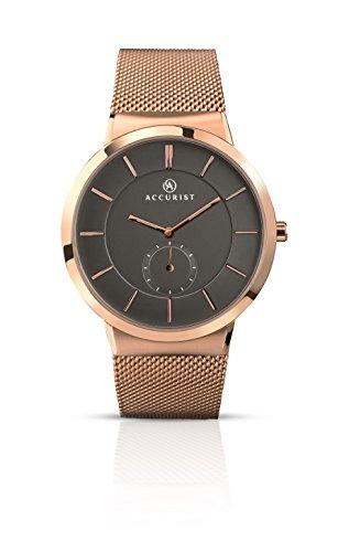アキュリスト 腕時計 メンズ イギリス ロンドン 7016.01 Accurist Mens Grey Dial Rose Gold Milanese Strap Watch 7016アキュリスト 腕時計 メンズ イギリス ロンドン 7016.01
