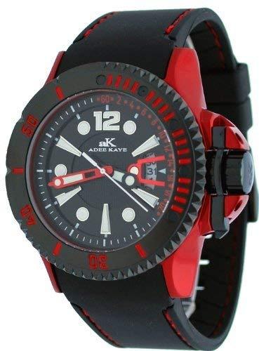 AK7779 Sports Aluminum メンズ アディーケイ Watch腕時計 Casual 【送料無料】Adee LA Black #AK7779-M 腕時計 LA AK7779 アディーケイ アメリカ アメリカ メンズ Kaye Dial Red Men's