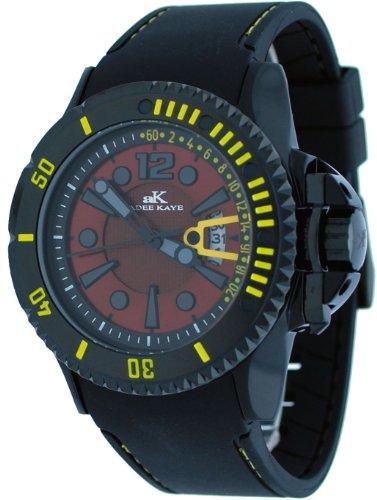 腕時計 アディーケイ メンズ アメリカ LA AK7779 【送料無料】Adee Kaye #AK7779-M Men's Black Aluminum Red Dial Casual Sports Watch腕時計 アディーケイ メンズ アメリカ LA AK7779