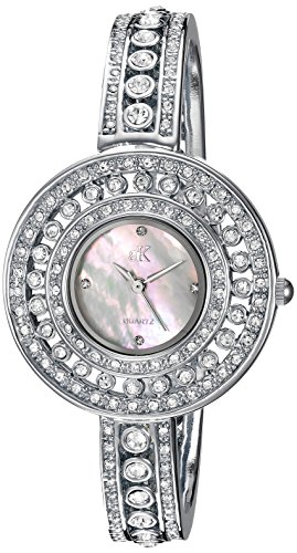 アディーケイ 腕時計 レディース アメリカ LA AK9116-L Adee Kaye Women's Quartz Brass Dress Watch, Color:Silver-Toned (Model: AK9116-L)アディーケイ 腕時計 レディース アメリカ LA AK9116-L