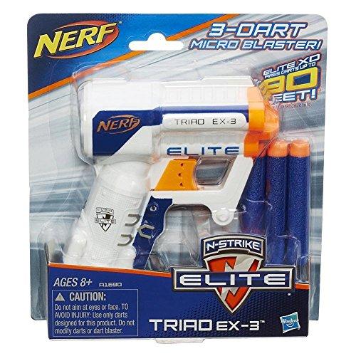 ナーフ エヌストライク アメリカ 直輸入 エリート Bundle: Nerf N-strike Elite Triad Ex-3 Blaster White(1) Pack of N-strike Elite Suction Darts(12 Darts)ナーフ エヌストライク アメリカ 直輸入 エリート