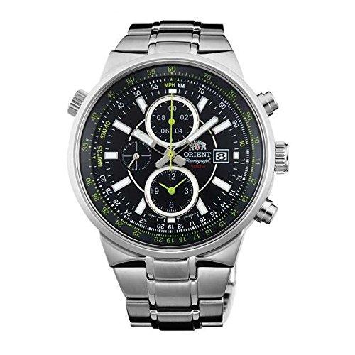 オリエント 腕時計 メンズ FTT15001B0 Orient Men's 45mm Steel Bracelet & Case Quartz Black Dial Analog Watch FTT15001B0オリエント 腕時計 メンズ FTT15001B0