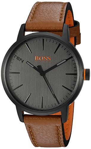 ヒューゴボス 高級腕時計 メンズ 1550054 HUGO BOSS Men's Copenhagen Stainless Steel Quartz Watch with Leather Strap, Brown, 20 (Model: 1550054)ヒューゴボス 高級腕時計 メンズ 1550054
