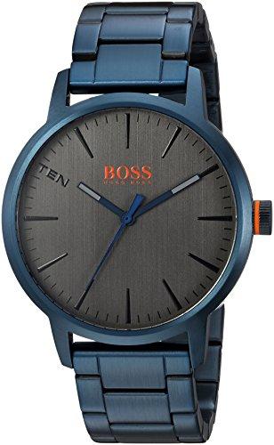 """ヒューゴボス 高級腕時計 メンズ 1550059 【送料無料】HUGO BOSS Men""""s Copenhagen Quartz Watch with Stainless-Steel-Plated Strap, Blue, 20 (Model: 1550059)ヒューゴボス 高級腕時計 メンズ 1550059"""