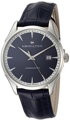 ハミルトン 腕時計 メンズ H32451641 Hamilton Jazzmaster Blue Dial Mens Leather Watch H32451641ハミルトン 腕時計 メンズ H32451641