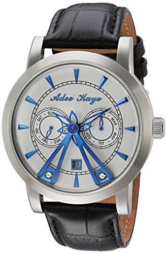 アディーケイ 腕時計 メンズ アメリカ LA AK8871-SVBU Adee Kaye Men's Stainless Steel Chinese-Automatic Watch with Leather Strap, Black, 22 (Model: AK8871-SVBU)アディーケイ 腕時計 メンズ アメリカ LA AK8871-SVBU