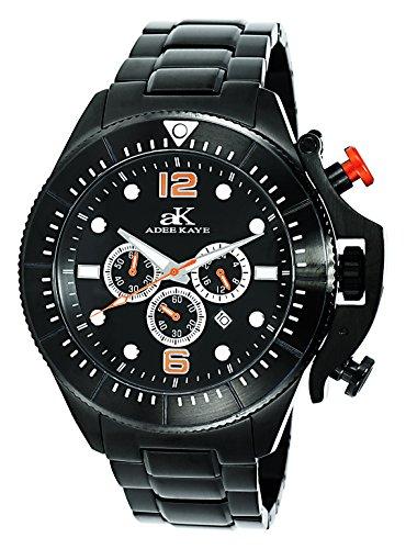 アディーケイ 腕時計 メンズ アメリカ LA 【送料無料】Adee Kaye Mens Sports SS Chronograph Watch with Crown Protector-Blackアディーケイ 腕時計 メンズ アメリカ LA