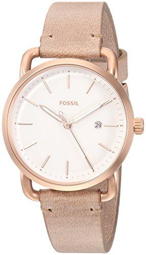 フォッシル 腕時計 レディース ES4335 Fossil Women's Commuter Stainless Steel Quartz Watch with Leather Calfskin Strap, Beige, 16 (Model: ES4335)フォッシル 腕時計 レディース ES4335