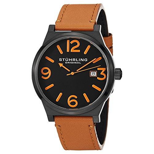 ストゥーリングオリジナル 腕時計 メンズ 454.3355K1 【送料無料】Stuhrling Original Men's 454.3355K1 Leisure Eagle Osprey Swiss Quartz Date Beige Watchストゥーリングオリジナル 腕時計 メンズ 454.3355K1