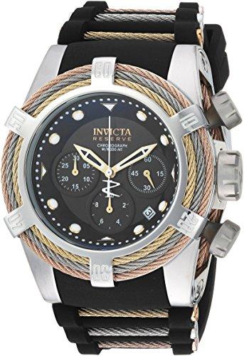 インヴィクタ インビクタ リザーブ 腕時計 メンズ 23053 Invicta Men's Bolt Stainless Steel Quartz Watch with Silicone Strap, Black, 36.8 (Model: 23053)インヴィクタ インビクタ リザーブ 腕時計 メンズ 23053