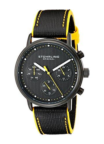ストゥーリングオリジナル 腕時計 メンズ 514.02 【送料無料】Stuhrling Original Men's 514.02 Concorso Obscure Stainless Steel Watch with Black Leather Strapストゥーリングオリジナル 腕時計 メンズ 514.02