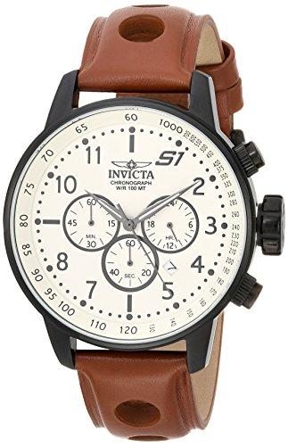 インヴィクタ インビクタ 腕時計 メンズ 23109 【送料無料】Invicta Men's S1 Rally Stainless Steel Quartz Watch with Leather-Calfskin Strap, Brown, 22 (Model: 23109)インヴィクタ インビクタ 腕時計 メンズ 23109