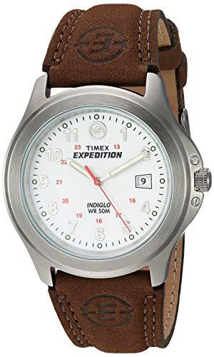 腕時計 タイメックス メンズ T44381D7 【送料無料】Timex Men's T44381 Expedition Metal Field Brown Leather Strap Watch腕時計 タイメックス メンズ T44381D7