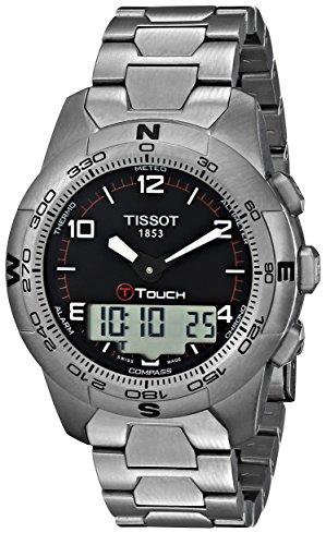 ティソ 腕時計 メンズ TIST0474204405700 Tissot Men's T0474204405700 T-Touch II Men's Black Quartz Touch Watchティソ 腕時計 メンズ TIST0474204405700