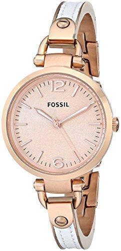 フォッシル 腕時計 レディース ES3261 Fossil Women's ES3261 Georgia White/Rose Stainless Steel/Leather Watchフォッシル 腕時計 レディース ES3261