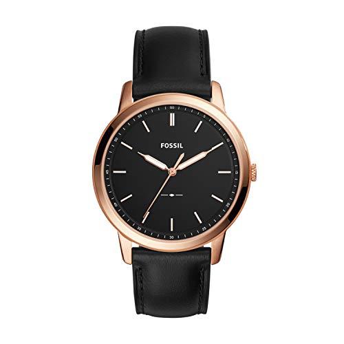 フォッシル 腕時計 メンズ FS5376 【送料無料】Fossil Men's The Minimalist 3H Stainless Steel Quartz Watch with Leather Calfskin Strap, Black, 22 (Model: FS5376)フォッシル 腕時計 メンズ FS5376