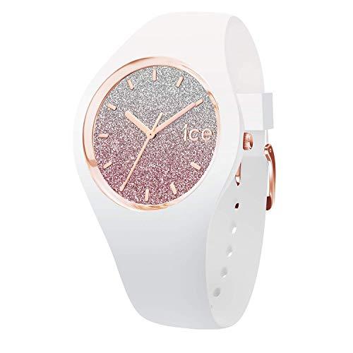 アイスウォッチ 腕時計 レディース かわいい 013431 Ice-Watch - ICE lo White Pink - Women's Wristwatch with Silicon Strap - 013431 (Medium)アイスウォッチ 腕時計 レディース かわいい 013431