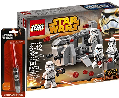 レゴ スターウォーズ LEGO Star Wars Imperial Troop Transport with/ Rare Lightsaber Penレゴ スターウォーズ