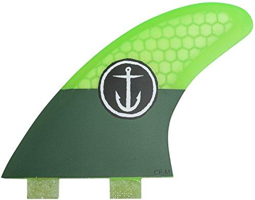 サーフィン フィン マリンスポーツ CFF3111501 【送料無料】Captain Fin Co Medium Surf Fins Twin Tab Green 3サーフィン フィン マリンスポーツ CFF3111501