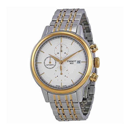 ティソ 腕時計 メンズ 【送料無料】Tissot Carson White Dial Two-Tone Automatic Men's Watch T0854272201100ティソ 腕時計 メンズ