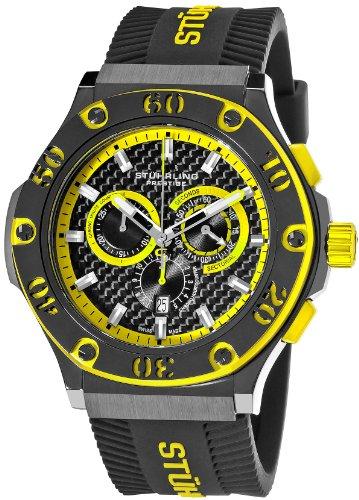 ストゥーリングオリジナル 腕時計 メンズ 292P.335965 Stuhrling Prestige Men's 292P.335965 Prestige Swiss Made Harbinger Quartz Chronograph Date Yellow Watchストゥーリングオリジナル 腕時計 メンズ 292P.335965