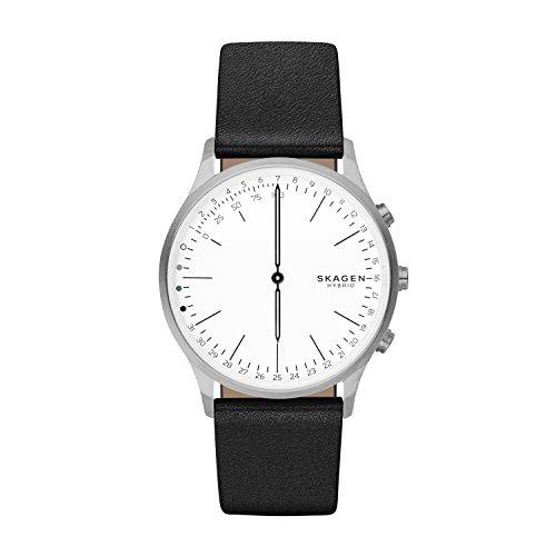 スカーゲン 腕時計 メンズ SKT1201 Skagen Men's Stainless Steel Quartz Watch with Leather Calfskin Strap, Black, 22 (Model: SKT1201スカーゲン 腕時計 メンズ SKT1201