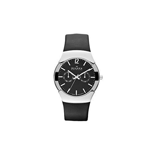 スカーゲン 腕時計 メンズ 583XLSLB 【送料無料】Skagen Men's Black Leather Multifunction Watch 583Xlslbスカーゲン 腕時計 メンズ 583XLSLB