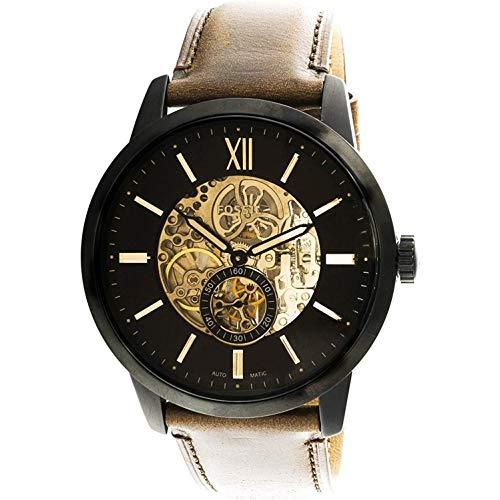 腕時計 フォッシル メンズ ME3155 【送料無料】Fossil Men's Townsman Stainless Steel Automatic Watch with Leather Strap, Brown, 24 (Model: ME3155)腕時計 フォッシル メンズ ME3155