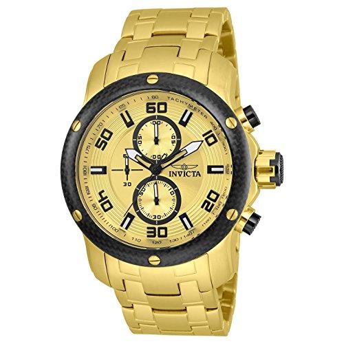 インヴィクタ インビクタ プロダイバー 腕時計 メンズ 24155 【送料無料】Invicta Men's Pro Diver Quartz Watch with Stainless-Steel Strap, Gold, 26 (Model: 24155)インヴィクタ インビクタ プロダイバー 腕時計 メンズ 24155