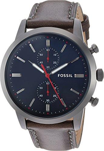 フォッシル 腕時計 メンズ FS5378 Townsman 44mm Chronograph Gray Leather Watchフォッシル 腕時計 メンズ FS5378