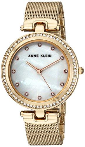アンクライン 腕時計 レディース AK/2972MPGB Anne Klein Women's AK/2972MPGB Swarovski Crystal Accented Gold-Tone Mesh Bracelet Watchアンクライン 腕時計 レディース AK/2972MPGB