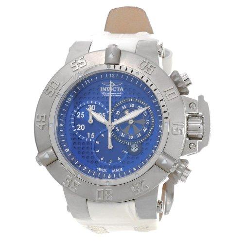 インヴィクタ インビクタ サブアクア 腕時計 メンズ 【送料無料】Invicta Subaqua Chronograph Blue Dial White Leather Mens Watch 80660インヴィクタ インビクタ サブアクア 腕時計 メンズ