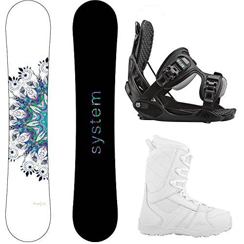 スノーボード ウィンタースポーツ システム 2017年モデル2018年モデル多数 System Package Flite Women's Snowboard-143 cm-Flow Haylo Bindings-Siren Lux Women's Snowboard Boots-8スノーボード ウィンタースポーツ システム 2017年モデル2018年モデル多数