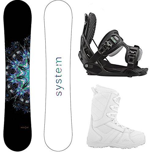 スノーボード ウィンタースポーツ システム 2017年モデル2018年モデル多数 System Package MTNW Women's Snowboard-144 cm-Flow Haylo Bindings-Siren Lux Women's Snowboard Boots-9スノーボード ウィンタースポーツ システム 2017年モデル2018年モデル多数