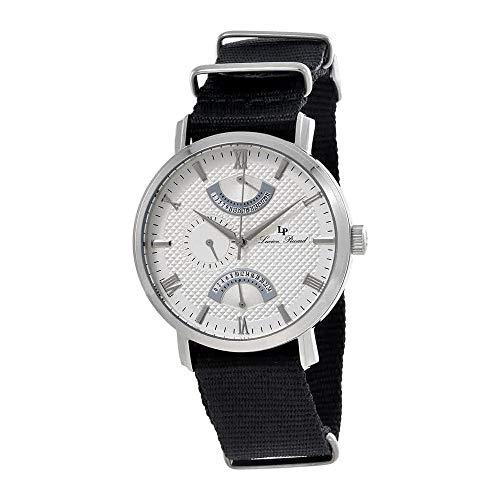 ルシアンピカール 腕時計 メンズ 【送料無料】Lucien Piccard Verona Silver Dial Dual Time Men's Watch 10340-02S-NSルシアンピカール 腕時計 メンズ