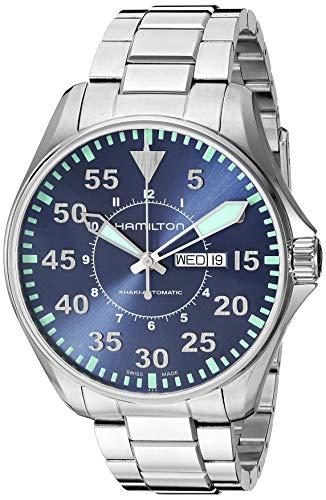ハミルトン 腕時計 メンズ H64715145 【送料無料】Hamilton Khaki Aviation Blue Dial Stainless Steel Men's Watch H64715145ハミルトン 腕時計 メンズ H64715145