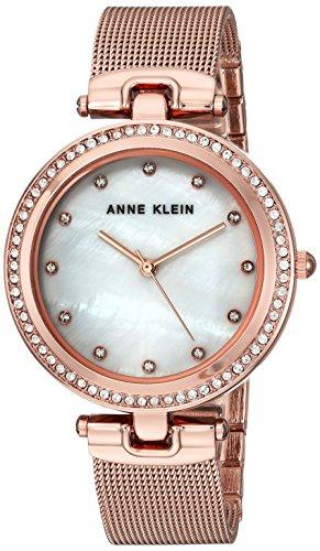 アンクライン 腕時計 レディース AK/2972MPRG Anne Klein Women's AK/2972MPRG Swarovski Crystal Accented Rose Gold-Tone Mesh Bracelet Watchアンクライン 腕時計 レディース AK/2972MPRG