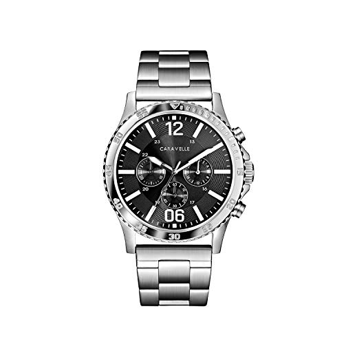 ブローバ 腕時計 メンズ 【送料無料】Caravelle Designed by Bulova Men's Quartz Watch with Stainless-Steel Strap, Silver, 24 (Model: 43A144)ブローバ 腕時計 メンズ
