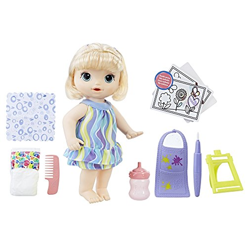 Alive for 赤ちゃん Bottle & Doll and Great Includes Blonde Doll C0960 Hair おままごと Art 3-Year-Olベビーアライブ Diaper, Doll, ベビーアライブ Drinks ベビー人形 Finger Supplies, おままごと C0960 Wets, Baby Baby: 赤ちゃん Paint Accessories ベビー人形