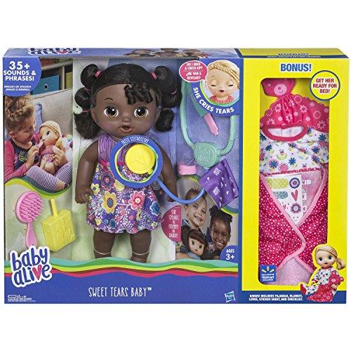ベビーアライブ 赤ちゃん おままごと ベビー人形 Baby Alive Sweet Tears Baby African American Exclusive With Extra Bonusesベビーアライブ 赤ちゃん おままごと ベビー人形