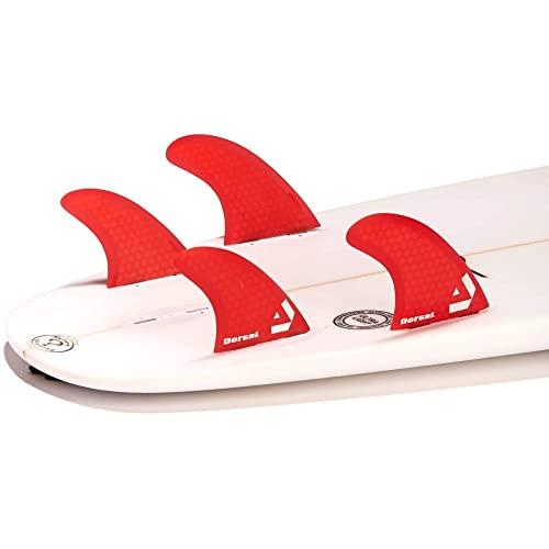 サーフィン フィン マリンスポーツ VENTRAL-HS5-FC4-Red 【送料無料】DORSAL Surfboard Fins Hexcore Quad Set (4) Honeycomb FCS Base Redサーフィン フィン マリンスポーツ VENTRAL-HS5-FC4-Red