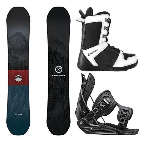 スノーボード ウィンタースポーツ キャンプセブン 2017年モデル2018年モデル多数 Camp Seven Package Redwood Snowboard-158 cm Wide-Flow Alpha MTN XL-System APX Snowboard Boots 13スノーボード ウィンタースポーツ キャンプセブン 2017年モデル2018年モデル多数