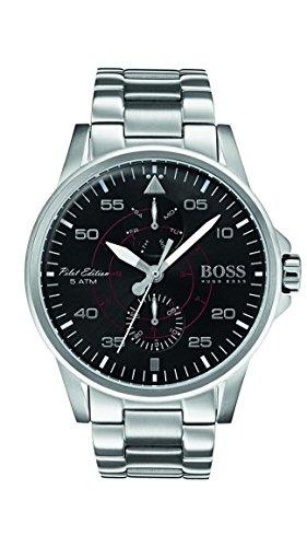 ヒューゴボス 高級腕時計 メンズ Hugo Boss 1513518 Silver 44mm Stainless Steel Aviator Men's Watchヒューゴボス 高級腕時計 メンズ