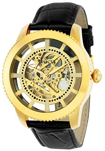 インヴィクタ インビクタ 腕時計 メンズ 22571 Invicta Men's 'Vintage' Automatic Stainless Steel and Leather Casual Watch, Color:Black/Gold (Model: 22571)インヴィクタ インビクタ 腕時計 メンズ 22571