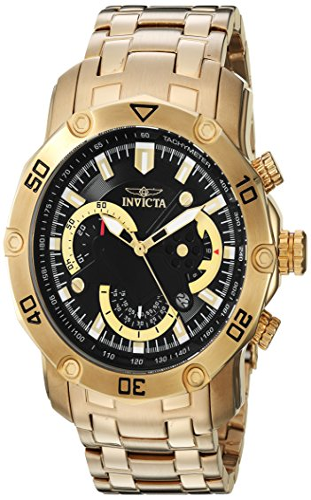 インヴィクタ インビクタ プロダイバー 腕時計 メンズ 22767 【送料無料】Invicta Men's Pro Diver Quartz Watch with Stainless-Steel Strap, Gold, 26 (Model: 22767)インヴィクタ インビクタ プロダイバー 腕時計 メンズ 22767