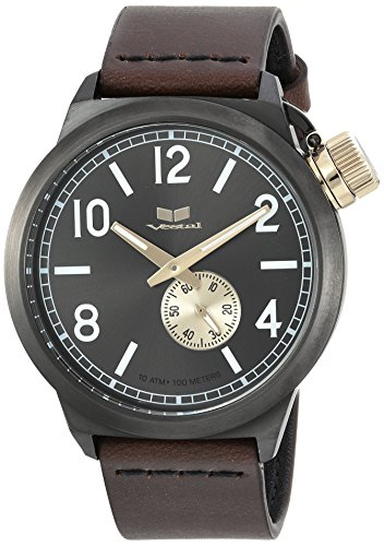 ベスタル ヴェスタル 腕時計 メンズ CNT453L02.DBNK Vestal Stainless Steel Quartz Watch with Leather Calfskin Strap, Brown, 22 (Model: CNT453L02.DBNK)ベスタル ヴェスタル 腕時計 メンズ CNT453L02.DBNK