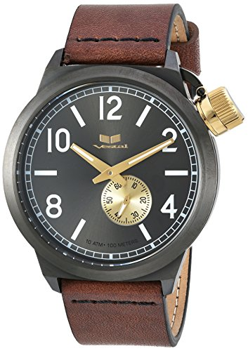 ベスタル ヴェスタル 腕時計 メンズ CNT453L02.BRBK Vestal Stainless Steel Quartz Watch with Leather Calfskin Strap, Brown, 22 (Model: CNT453L02.BRBK)ベスタル ヴェスタル 腕時計 メンズ CNT453L02.BRBK