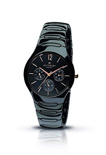 アキュリスト 腕時計 レディース イギリス ロンドン MB990B.01 【送料無料】Accurist MB990B Ladies Black Ceramic Watchアキュリスト 腕時計 レディース イギリス ロンドン MB990B.01